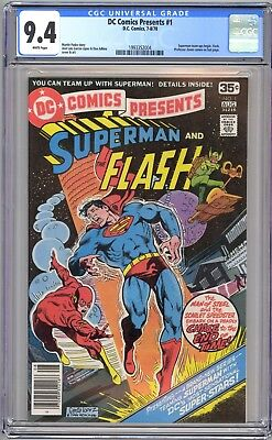 Dc Comics Presents #1 Cgc 9.4 Wp Nm - Superman Flash Team-Up