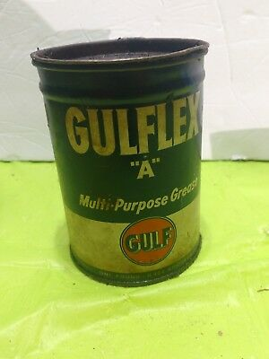 Vintage Gulf Oil Company Gulflex A Grease Can