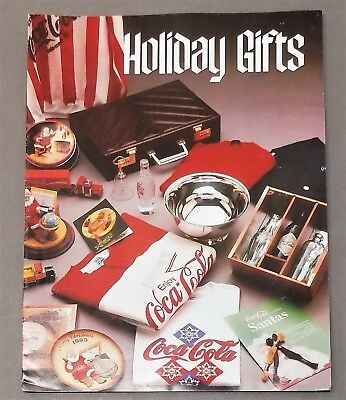 Vintage COCA-COLA HOLIDAY GIFTS CATALOG 1987 drink soda Sprite Xmas advertising
