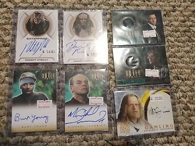 TV/Movies Autographed Trading Card Lot The Outer Limits Star Trek LOTR