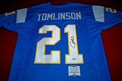 5f5a3313 LADAINIAN TOMLINSON SAN diego chargers signed jersey Beckett COA