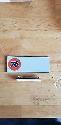 Union 76 Gas Oil Service Filling Station Employee Name Tag UNUSED MINT Condition