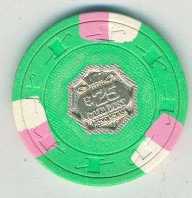 1970s $25 chip from the Gold Dust Casino, Reno, with Paul-son metal center