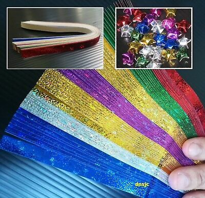 140 strips Origami Paper Shiny Bright Lucky Wishes Star Folding Kit Star Shadow