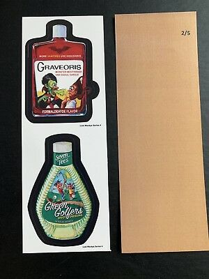 Lost Wacky Packages Series 4 Double Graveoris / Green Golfer RARE TAN BACK #2/5