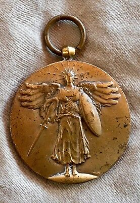 Antique WW1 THE GREAT WAR FOR CIVILIZATION US Victory Medal No Ribbon