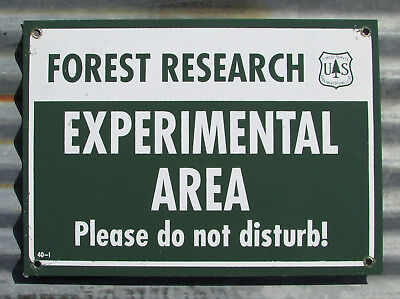 VINTAGE FOREST RESEARCH US FOREST SERVICE EXPERIMENTAL AREA METAL SIGN original