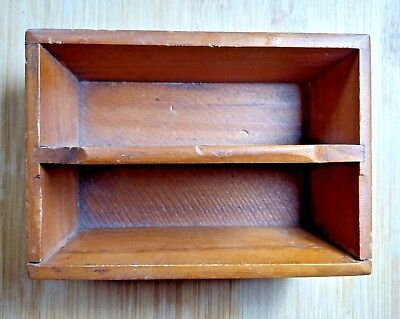 Primitive Knife Cutlery Tray Miniature Carrier Utensil Storage Box Antique