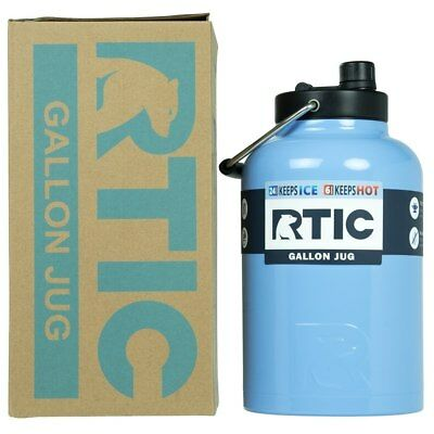 NEW RTIC Hot Cold Double Wall Vacuum Insulated One Gallon Jug CAROLINA BLUE