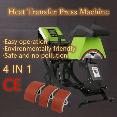 4in1 Dual Digital Heat Press Machine Gas Spring Sublimation Hat / Cap Transfer