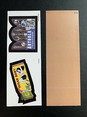 Lost Wacky Packages Series 4 Double Artools  / Sugar Baby X BACK #3/5