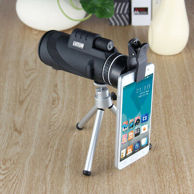 40x60 Portable Monocular Telescope Day Night Vision HD Optical Zoom With Tripod