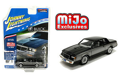 Johnny Lightning 1987 Buick Regal T-Type 2 Tones (Black/Grey) 1/64 JLCP7179