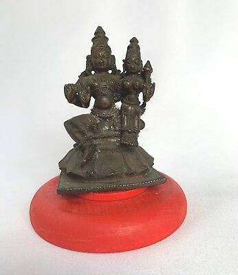 Bornze Miniature Asian Deities Shiva & Parvoti