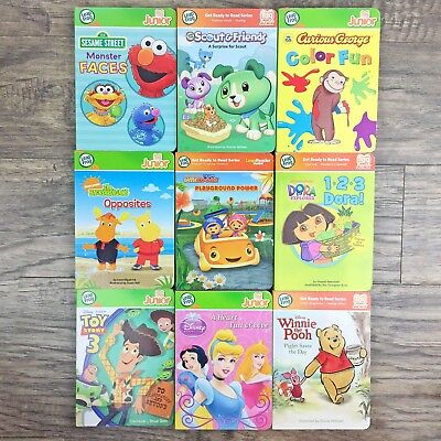 Lot 9 Leap Frog Tag Reader Jr Disney Nick Sesame Street Backyardigans George