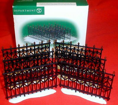 DEPT. 56 WROUGHT IRON FENCE EXTENSIONS. Set of 6. NIB