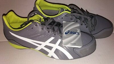 9bfdd38660b ASICS Base Burner Baseball Cleats Titanium White Lime Mens (K600Y 9707) Sz