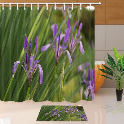 Candles and orchids Shower Curtain Waterproof Polyester-Fabric /&12hooks 71x71in