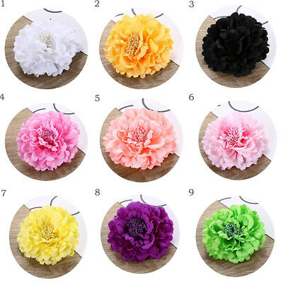 5a9db1827 Lady Peony Flower Hair Clip Wedding Bridal Bridesmaid Prom Party Hairpin  Brooch