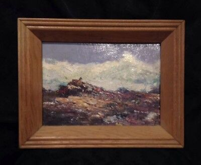 Artist Signed Betty Brown Original Oil Painting Oil On Board Framed Seascape
