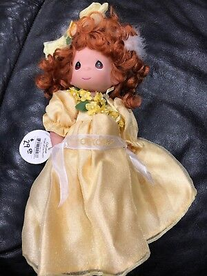 "Precious Moments 12"" Angel Of The Month October Yellow Dress New"