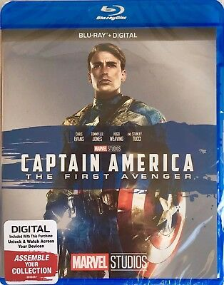 CAPTAIN AMERICA ~ THE FIRST AVENGER ~ Blu-Ray + Digital *New *Factory Sealed