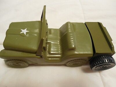 "Avon Decanter Army Jeep truck 4 Fl Oz empty container 5 1/2"" long"