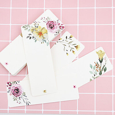 Office & School Supplies Diy Vintage Word Card Bookmark Flower Pattern Gift Tag