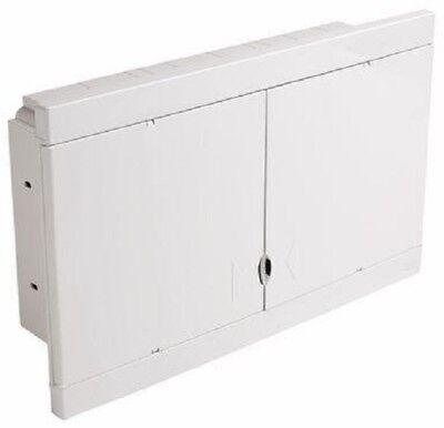 HPM FLUSH MOUNT DIN RAIL ENCLOSURE HPMHL24F 24-Modules, White *Aust Brand