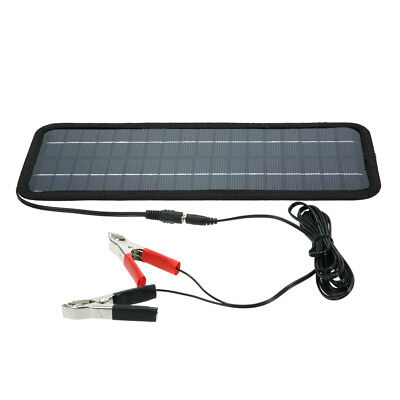 12V 4.5W Solar Panel Battery Charger System Maintainer Boat Marine RV Car S6X9