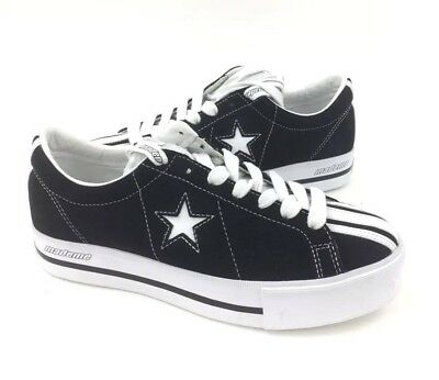 0c4d178e505 NEW Converse Mademe One Star Platform Ox Womens Shoes Sneakers Black Size 10