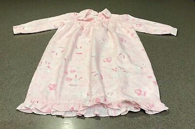 NWT Pottery Barn Kids PBK Girls Polyester Pink Bunny Rabbit Nightgown 2T Easter!