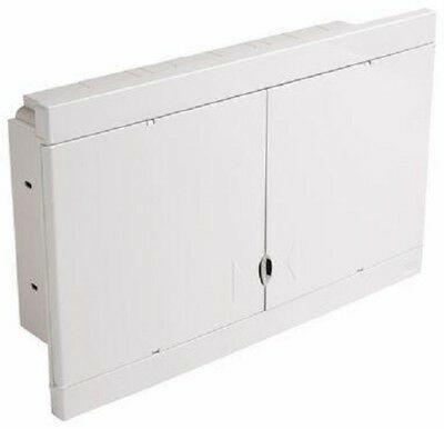 HPM FLUSH MOUNT DIN RAIL ENCLOSURE HPMHL48F 48-Modules, White *Aust Brand