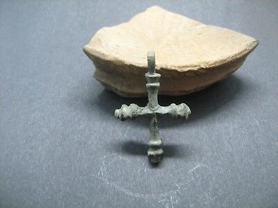 Medieval Europe. Bronze cross 9-12 century