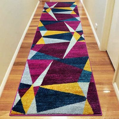 Hallway Rug Hall Runner Modern Contemporary Mat Floor Carpet Terra 2 Sizes 2301