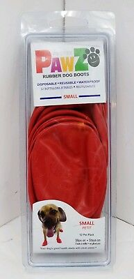 PawZ Protex Dog Boots Water Proof Paws Disposable Reusable Small Red NEW