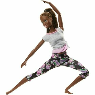 Mattel Barbie Made To Move African American Floral Yoga