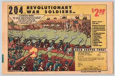 Vintage Comic Book Ad 1980 Toy Plastic 204 Revolutionary War Soldiers $2.98 Set
