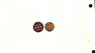 2 Diff. Coal Mine Scatter Tags Old Ben Coal Co. # 593