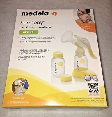Medela Harmony Manual Breast Pump with Bottles Brand New Factory Sealed 67186
