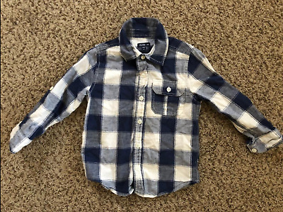 Baby Gap Boys Plaid Checkered Button Front Shirt Size 4T