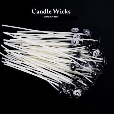 1-50 X Waxed Wicks for Candle Making Teacup/ Medium Candles 100mm (10CM)