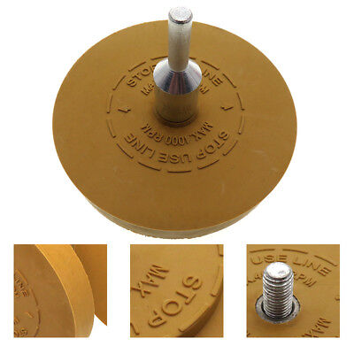 Rubber Eraser Wheel for Adhesive Sticker Pinstripe Decal Remover + Drill Adapter