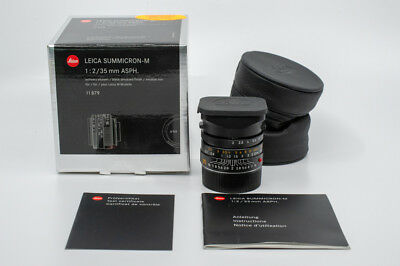 Leica 11879 SUMMICRON-M 35mm f/2 ASPH Lens 6 Bit Coded MINT With Box