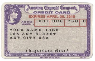 New Replica 1959 Vintage Customized American Express Credit Card Charge Card