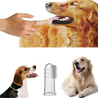 8PCS Pet Toothbrush Soft Silicone Finger Toothbrush For Dogs Cats Pets Accessory
