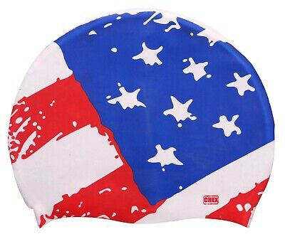 Chex 100% Silicone USA Adulte Natation Bonnet États-unis Of America Dsn 1
