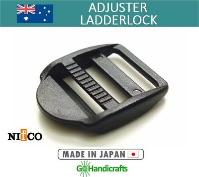 QUALITY STRAP ADJUSTER 15mm 20mm 25mm LADDER LOCK SLIDER RELEASE BUCKLE PLASTIC