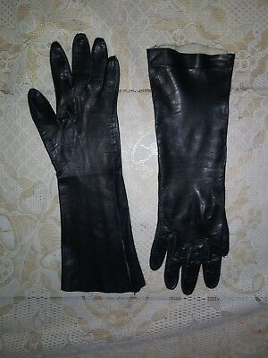 Vintage Super Soft smooth Leather Ladies Opera Gloves Size 8 1B