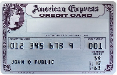 New Replica Vintage 1969 American Express Credit Card Customizable